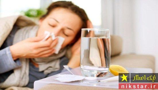 درمان سرماخوردگی با مصرف مایعات