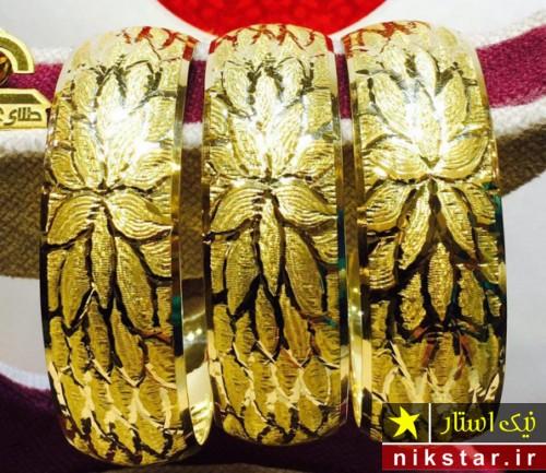 النگو طلا پهن