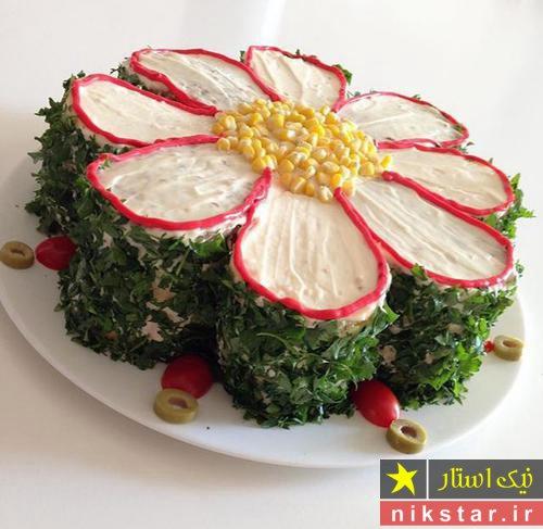 تزیین سالاد الویه برای جشن تولد