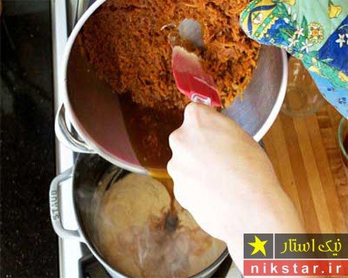 آموزش تصویری طرز تهیه حلوا هویج مرحله به مرحله