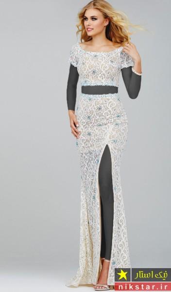 مدل لباس مجلسی بلند دوتکه
