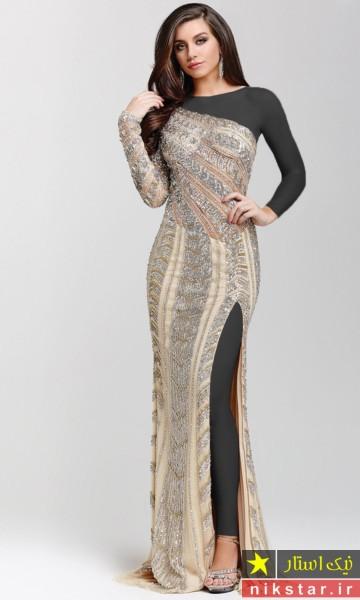 لباس گیپور بلند مجلسی