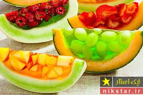 تزیین ژله با میوه