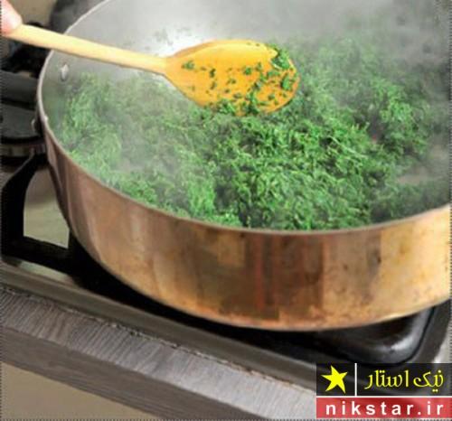 طرز پخت قورمه سبزی