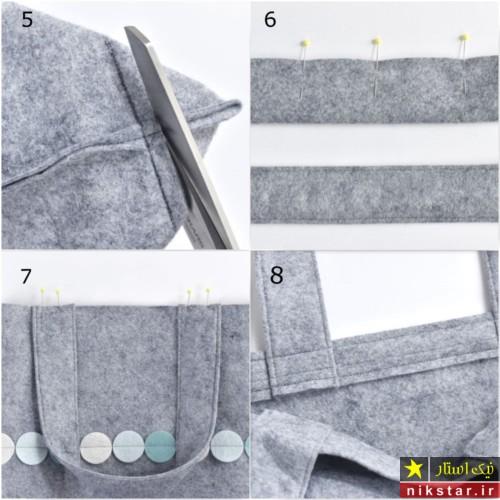 کیف نمدی دستی با الگو