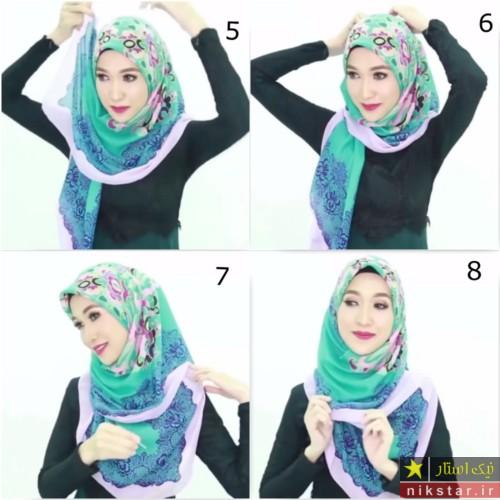 آموزش بستن روسری گره از بغل