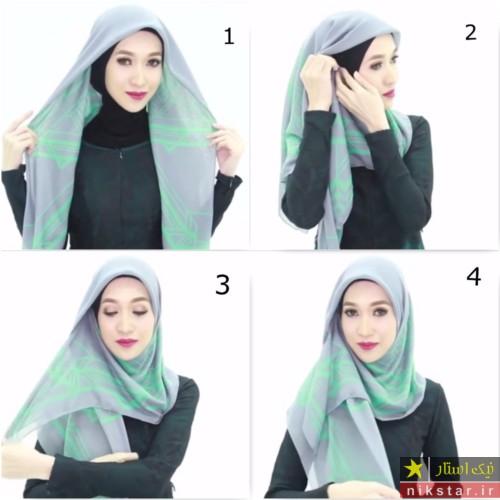 جدیدترین مدل بستن روسری زیر چادر