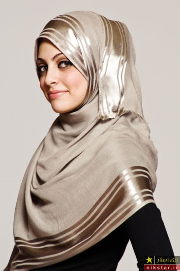 آموزش بستن شال و روسری گره از بغل