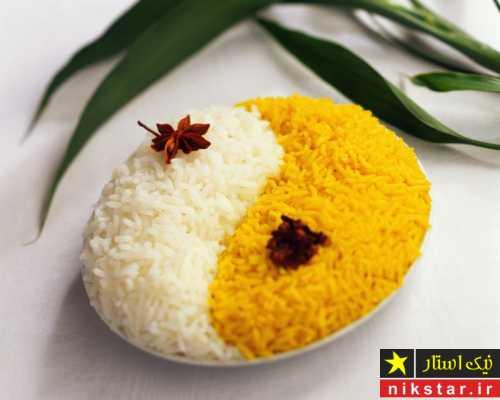 دیزاین برنج با زعفران و زرشک
