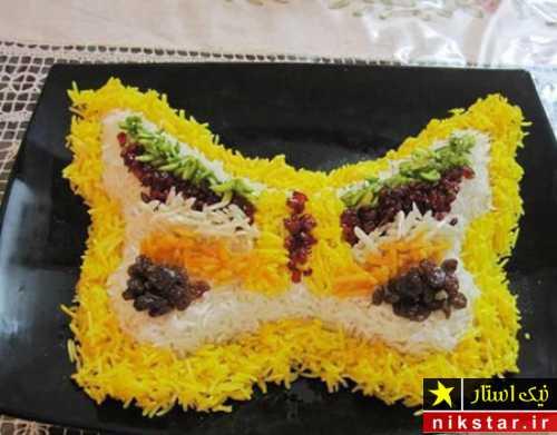 عکس دیزاین برنج به شکل پروانه