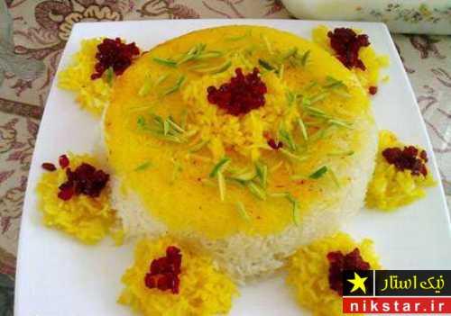 مدل تزیین برنج مجلسی