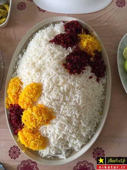 تزیین برنج مجلسی