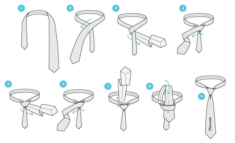 آموزش نحوه بستن کراوات