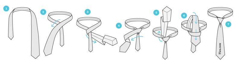 نحوه بستن کراوات دو گره