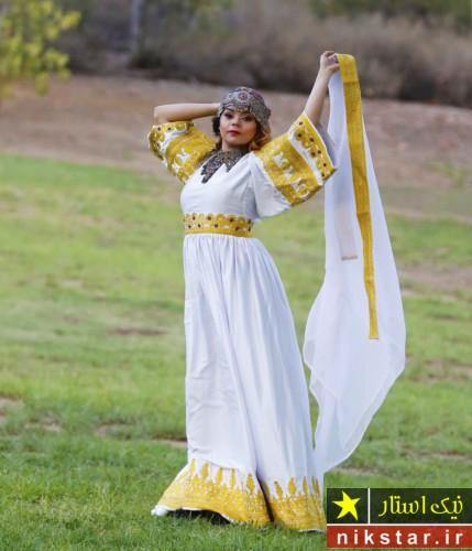مدل لباس عروسی افقانی سفید