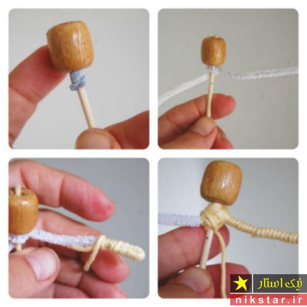 آموزش درست کردن عروسک پشم طبیعی با کچه دوزی