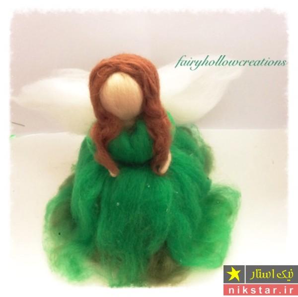 ساخت عروسک با پشم الیاف نمدی - آموزش درست کردن عروسک دخترانه با پشم