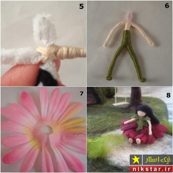 آموزش ساخت عروسک دخترانه با کچه دوزی