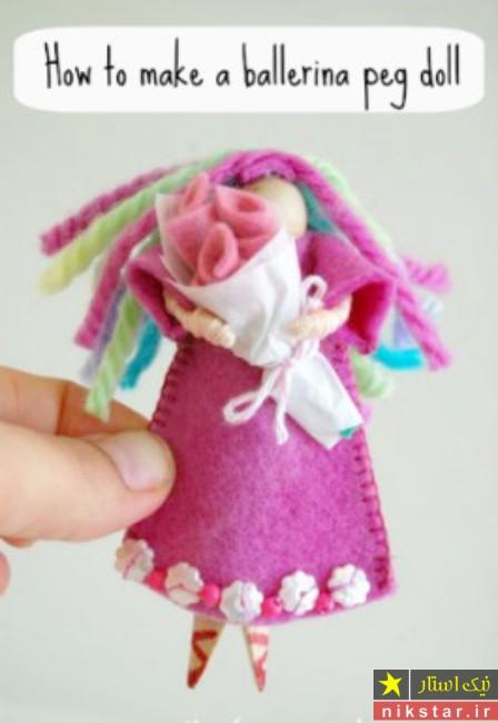 آموزش ساخت عروسک نمدی با الگو