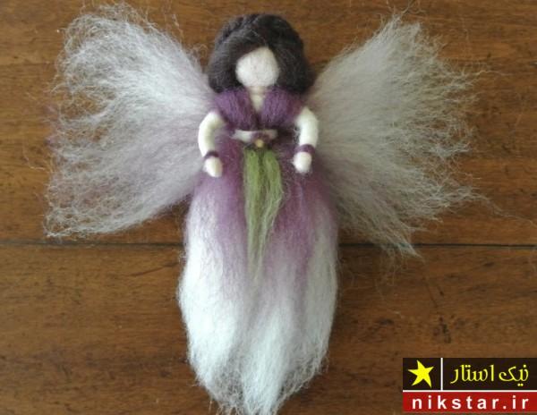 آموزش درست کردن عروسک با پشم طبیعی همراه با الگو