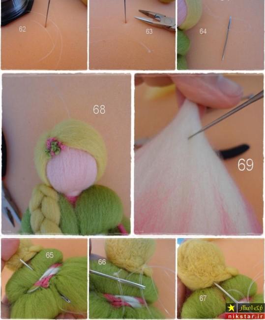 آموزش درست کردن عروسک دخترانه با کچه دوزی