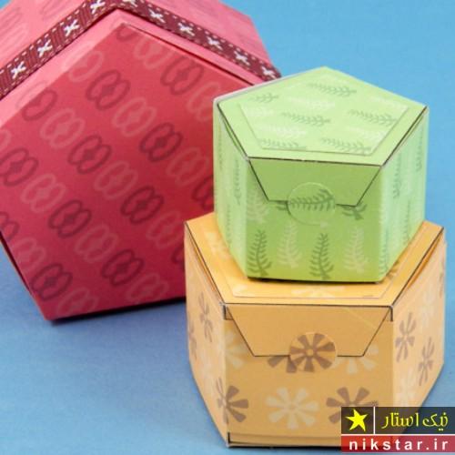 جعبه کادو پنجضلعی
