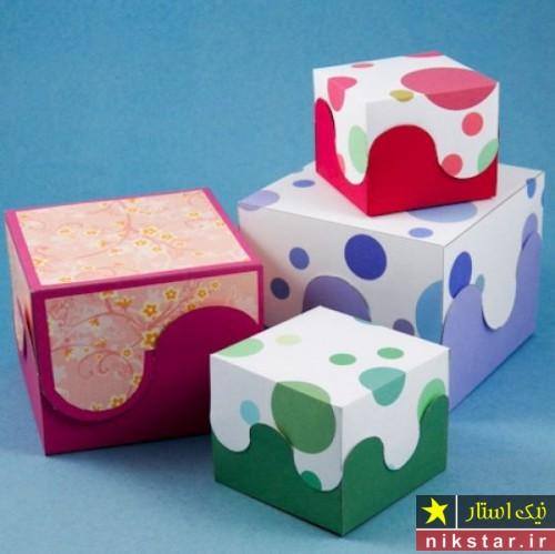 آموزش ساخت جعبه کادو مربعی