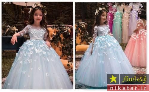مدل لباس عروس بچه گانه
