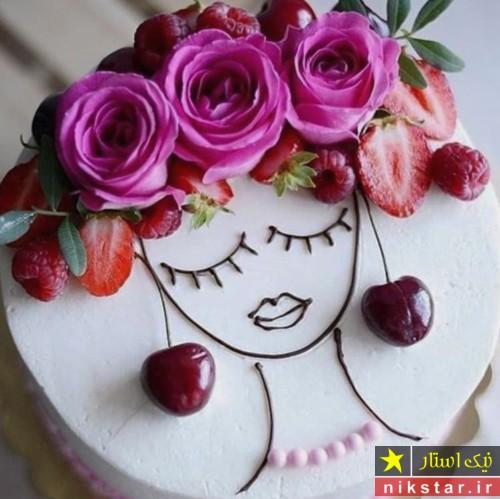 عکس تزیین کیک تولد دخترانه