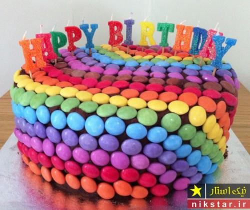 عکس تزیین کیک تولد با اسمارتیس