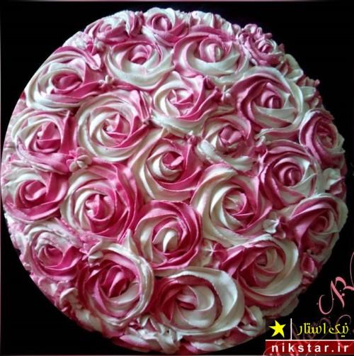 عکس تزیین کیک تولد با خامه