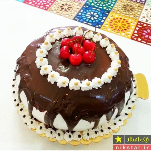 عکس تزیین کیک تولد با شکلات