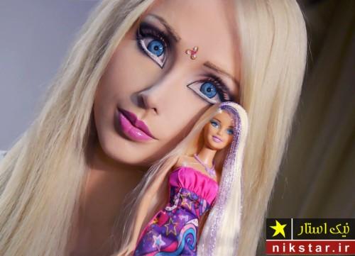 دختری که خود را شبیه به عروسک باربی کرده است