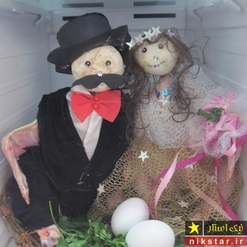 مدل تزیین یخچال عروس