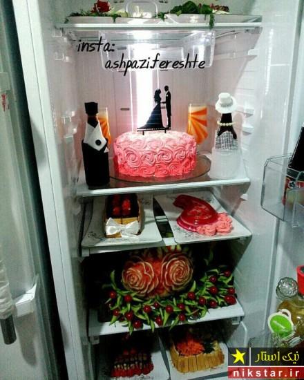تزیین یخچال عروس جدید