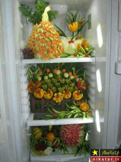 تزیین داخل یخچال عروس