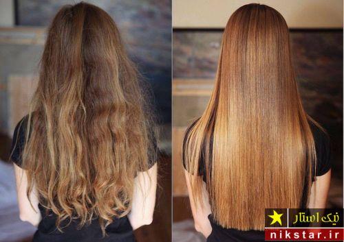 صاف کردن مو به روش گیاهی