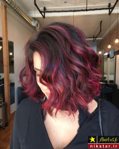 رنگ موی قرمز شکلاتی
