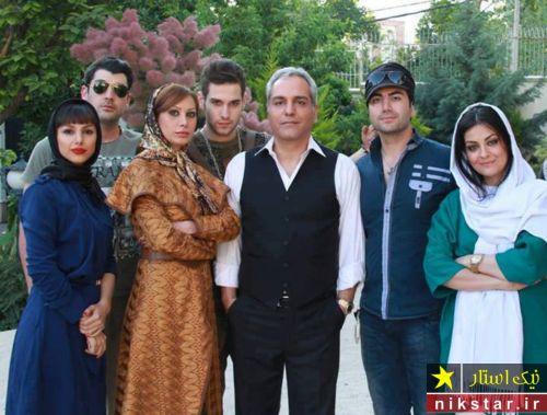 مهران مدیری با عوامل سریال ویلای من