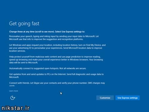 مراحل نصب ویندوز 10