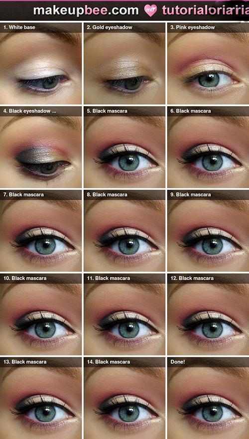 مدل آرایش چشم تصویری
