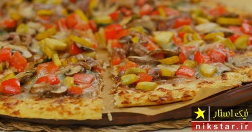 طرز تهیه پیتزا سبزیجات خوشمزه مرحله به مرحله