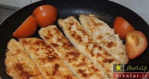 طرز تهیه کباب تابه ای مرغ