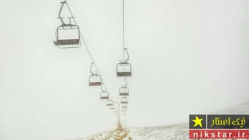بارش برف در ارتفاعات تهران