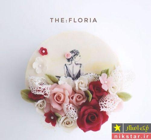 تزیین کیک با گل رز