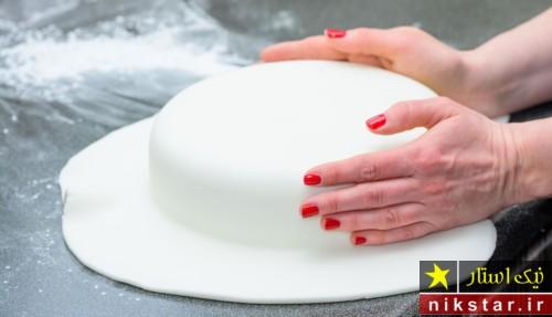 طرز تهیه خمیر فوندانت بدون مارشمالو