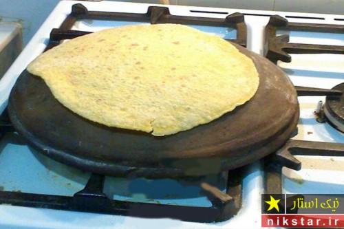 طرز تهیه نان لواش با خمیر مایه