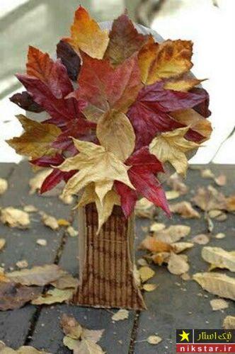 طراحی از برگ درختان
