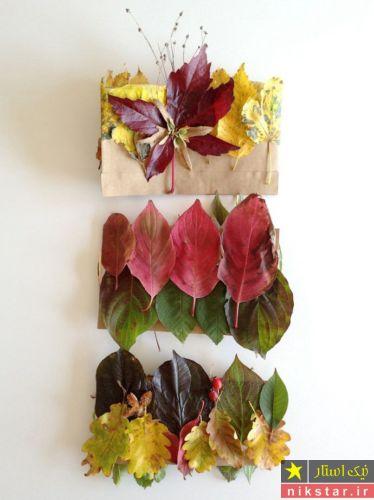 ساخت دکوری با برگ های پاییزی