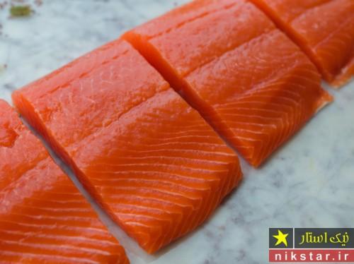 نحوه مزه دار کردن ماهی سالمون